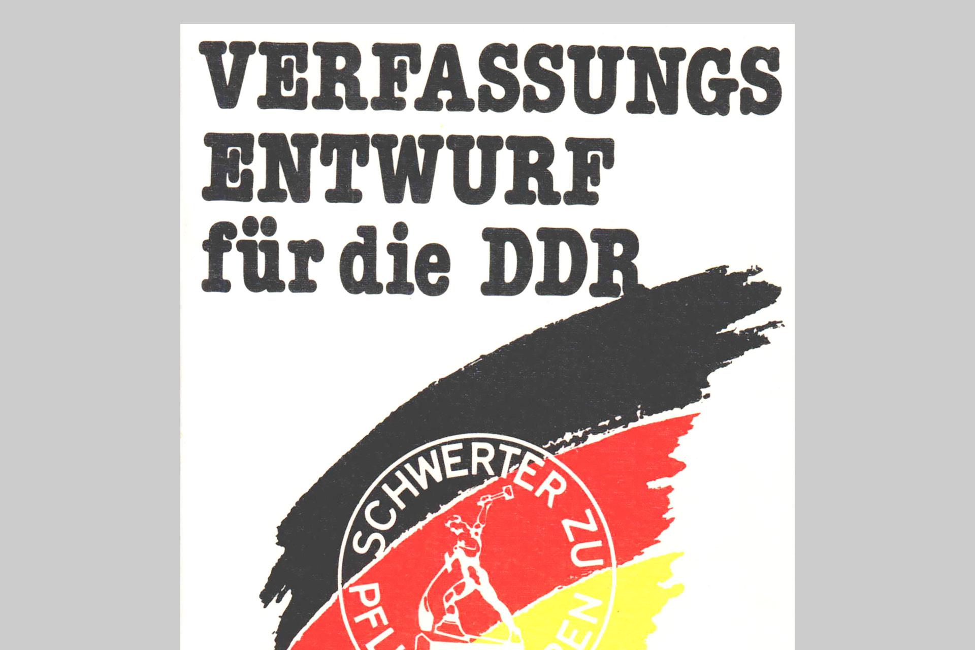 Verfassungsentwurf für die DDR